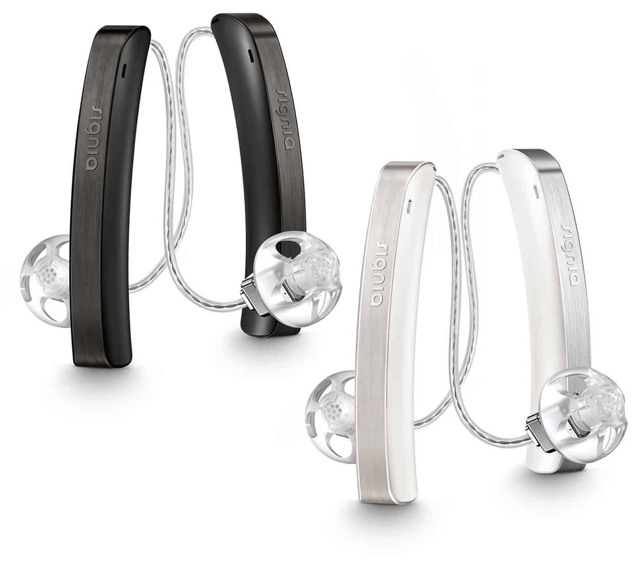 Styletto 2 1 white black pair 1248 - Hörgeräte - Produkte